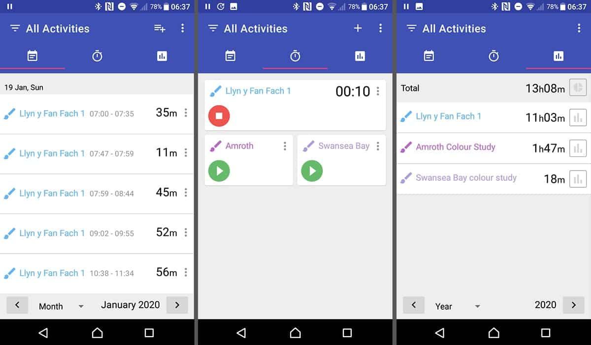 A Time Tracking App for Artists