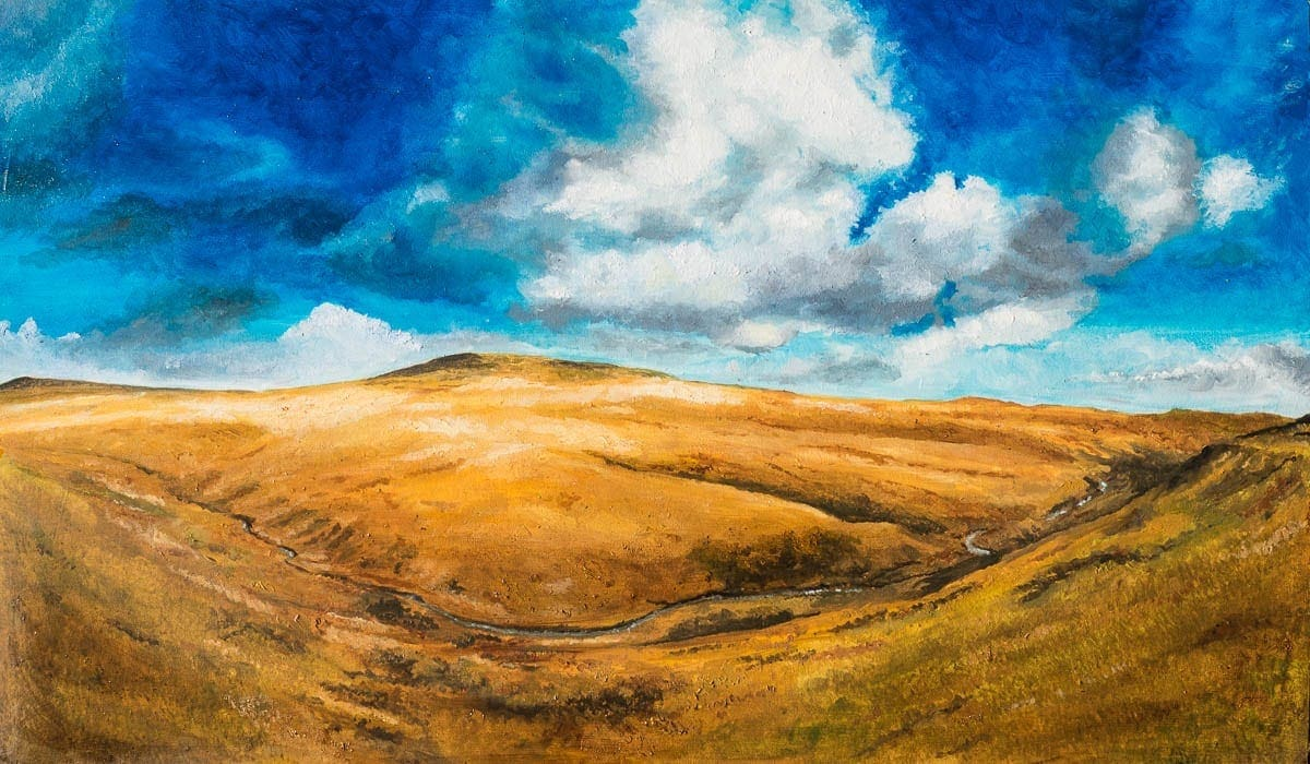 oil painting of the Black Mountains in the Brecon Beacons