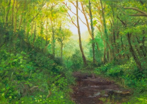 The Path Through the Trees – Colour Sketch
