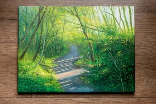 Ystradgynlais Art – A Spring Woodland Painting