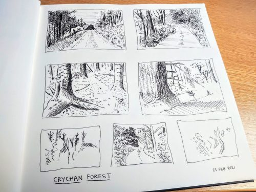 Crychan Forest Art – Today's Sketches